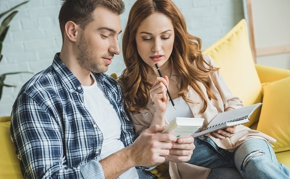 Couple Planning Financial Goals Together