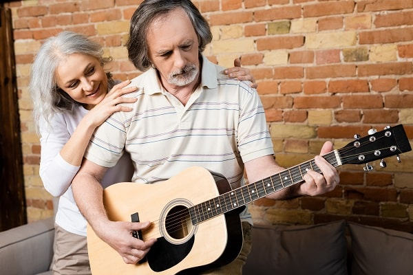 Wife Interested in Husband's Guitar Hobby
