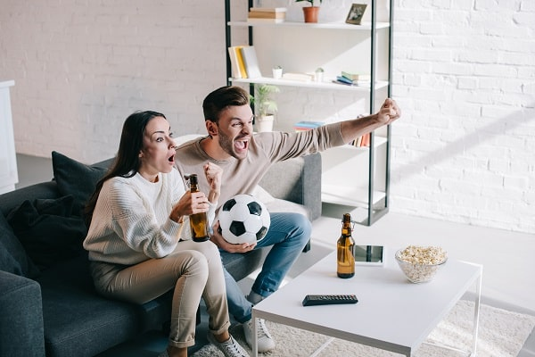 Wife Watching Sports With Husband