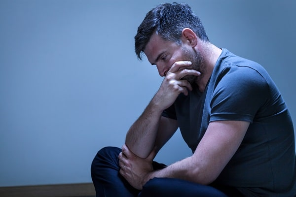 Depressed Man Processing and Contemplating