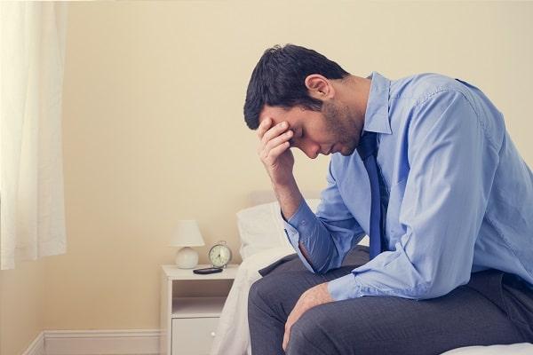 Distraught Man Contemplating