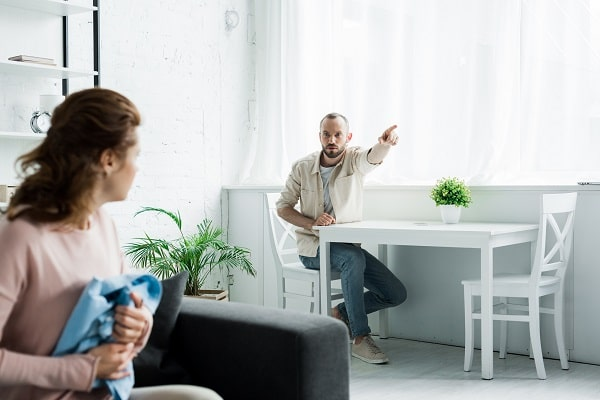 Man Comparing Woman On TV