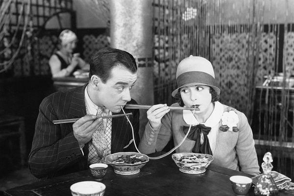 Nostalgic Photo of Couple on Date