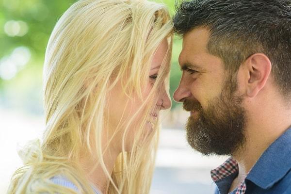 Couple Maintaining Close Eye Contact