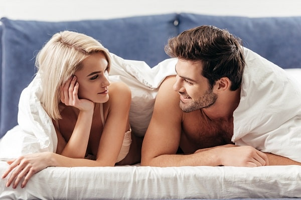 Couple Spending Time Together in Bed