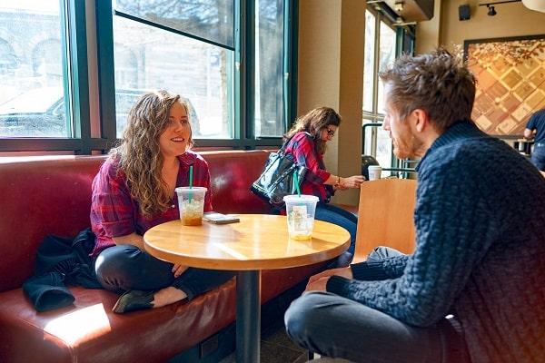 Couple on Starbucks Date