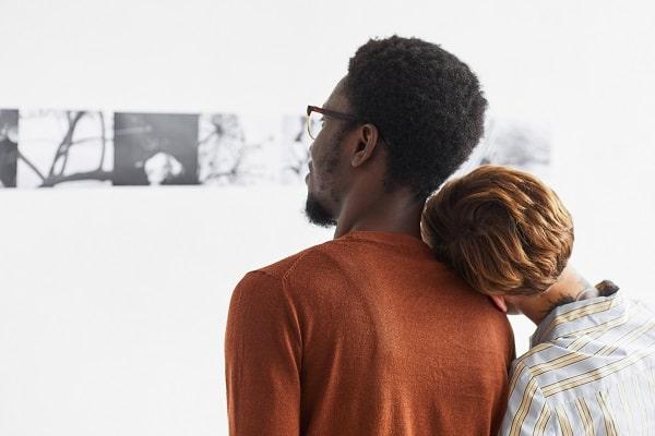 Date at Art Exhibit