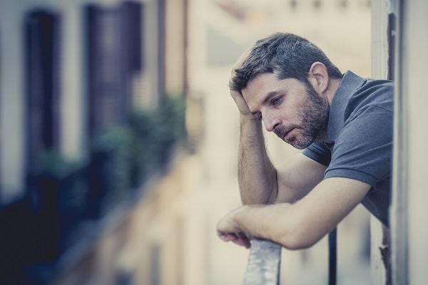 Depressed Man Contemplating Decisions