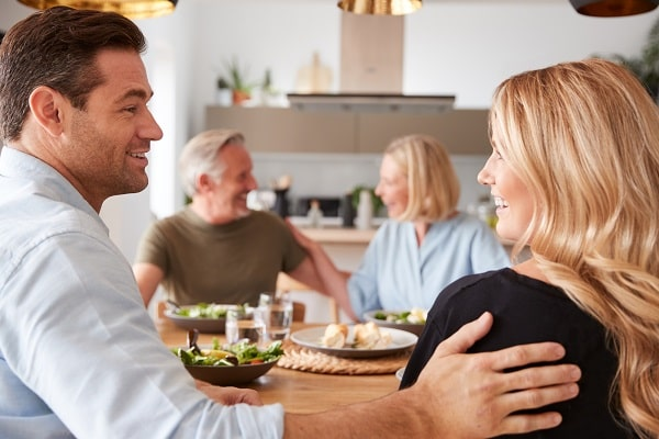 Man Introducing Girlfriend to Family