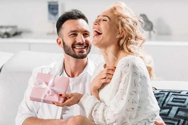 Woman Ecstatic About Gift From Man
